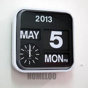 Fartech Retro Modern 17 034 Calendar Auto Flip Desk Wall