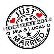Just Married Aufkleber