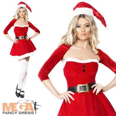Ms Claus Kostüme (Santa Babe Ladies Sexy Mrs Ms Santa Claus Christmas Party Fancy Dress Costume)