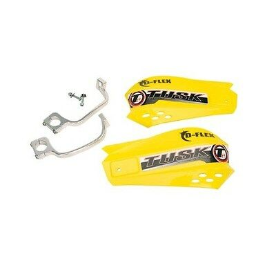 Motocross MX Handguards Tusk MX D-Flex Yellow KAWASAKI guards gaurds dirt bike
