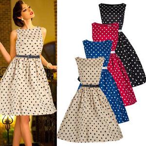 Mujer estilo 50s a os 60 vestido rockabilly estilo vintage - Estilo anos 60 ...