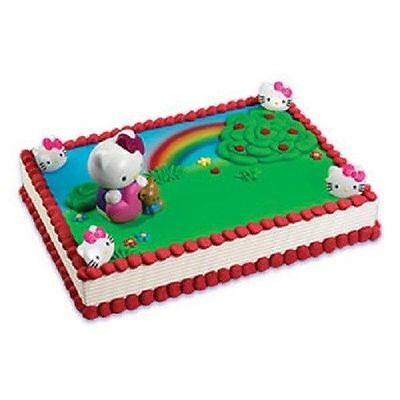 HELLO KITTY BUBBLE BLOWER CUPCAKE CAKE KIT TOPPER PARTY BIRTHDAY DECORATION  - Hello Kitty Cake Kit