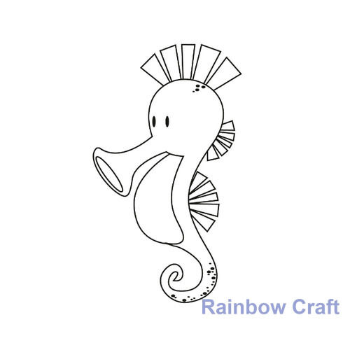 Kaisercraft mini stamps - 26 wording / patterns Scrapbooking card making - Seahorse