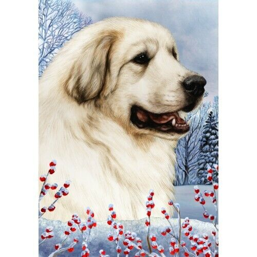 Winter House Flag - Great Pyrenees 15146