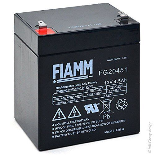 Batteria FG20451 FIAMM 12V 4,5Ah ups allarmi veicoli elettrici servoscala