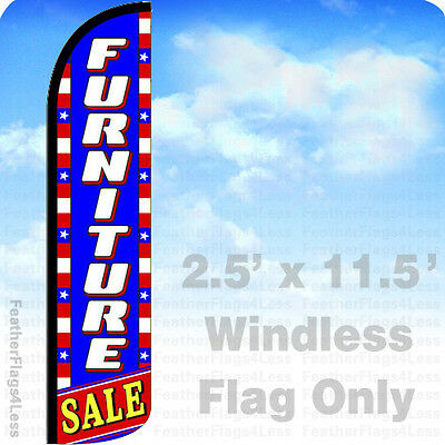 Furniture Sale - Windless Swooper Flag Feather Banner Sign 11.5 - Patriotic Bz