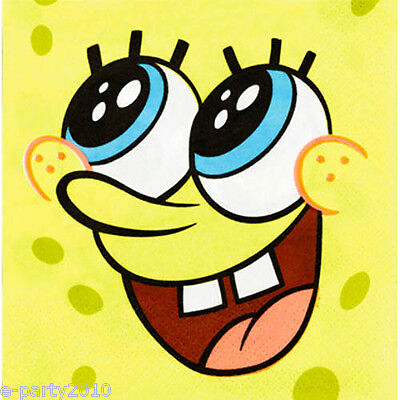SPONGEBOB SMALL NAPKINS (16) ~ Birthday Party Supplies - Nickelodeon Party Supplies