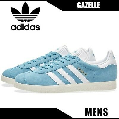 4d97d4e1b129 Adidas Orignals Gazelle Blue GOLD Off White SAIL Men s Shoes Sneakers Sz  11.5