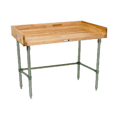 John Boos Dsb13 Wood Top Work Table W Stainless Base 72 W X 36 D