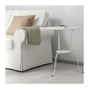 Two Ikea Lindved Side Tables (White)