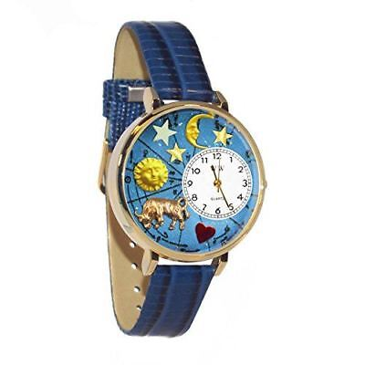 Whimsical Watches Unisex G1810012 Taurus Royal Blue Leather Watch