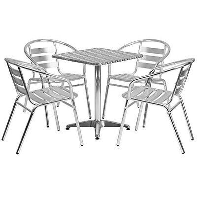 Aluminum Slat Table - 23.5
