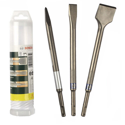 BOSCH 3 Piece SDS Chisel Set (290 x 52x 52mm) 2607019457 3165140415750 #V'