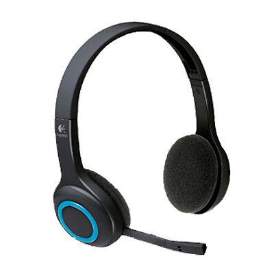 Logitech Wireless Headset H600 schwarz Kopfhörer Kabellos Chat Musik Video H600 Wireless Headset