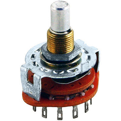 Alpha 12 Position, 1 Pole Rotary Switch, Break Before Make 12 Position Rotary Switch