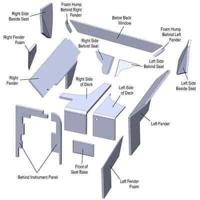 John Deere Late 4040 4240 4440 4640 4840 Cab Upholstery Kit Usa