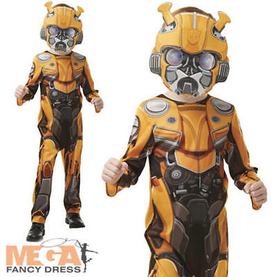 Bumblebee Boys Fancy Dress Transformers Movie Beetle Robot Kids Book Day - Boy Robot Kostüm