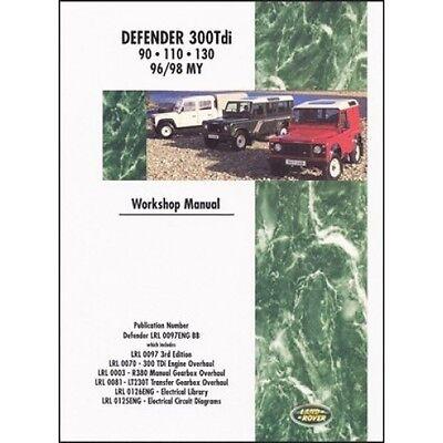 Land Rover Defender Diesel 300Tdi Workshop Manual 1996-1998 MY book paper