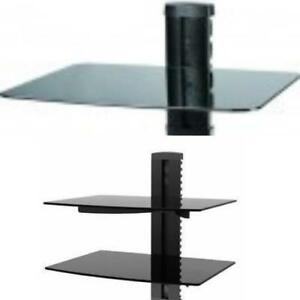 Weekly Promotion ! DVD Shelf Wall Mount Bracket (TemperedThicker Glass Shelf)