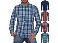 Mens Ex Next Long Sleeve Casual Check Print Smart 100% Cotton Work Shirt RRP £32