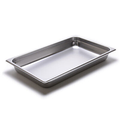 Steam Table Pan - 24 Gauge Stainless Steel Full-size 2-12h