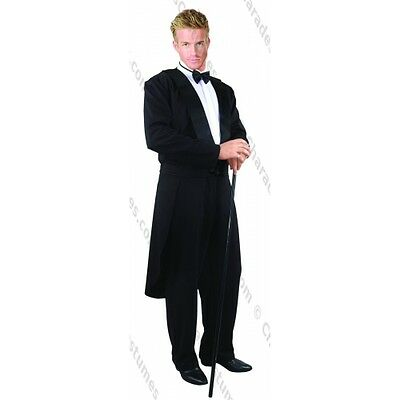 ADULT MENS MALE BLACK TUXEDO TAILCOAT COCKTAIL SUIT FORMALITIES COSTUME