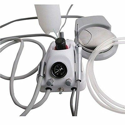 Portable Dental Turbine Unit Air Compressor With 3 Way Syringe Kit 2 Holes
