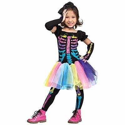 Funky Punk Bones - Neon Skeleton Costume - Girl's Toddler Size (Ages (Funky Bones Kostüm)
