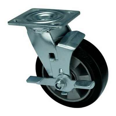 6 Inch Caster Wheel 551 Pounds Swivel Aluminum Core And Rubber Top Plate
