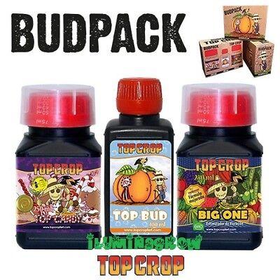 BUDPACK TOP CROP Potencia floracion BIG ONE+TOP CANDY+TOP BUD Abono Fertilizante