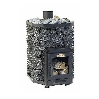 SAUNA Wood Burning Stove Square 16 for 8 - 16m3 steam room 17kW Without stones
