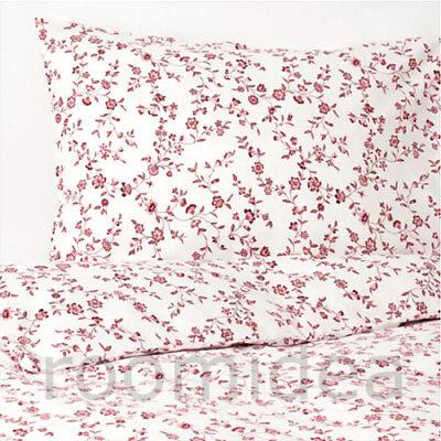 IKEA HÄSSLEKLOCKA 2-tlg Bettwäsche 140x200 Garnitur Bettbezug rosa weiß