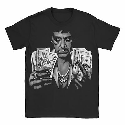 Money Power Women T Shirt Movie Scarface Tony Montana Classic Retro Gangster