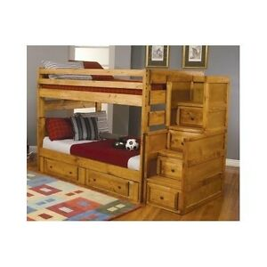 Bunk bed stairs ebay for Furniture 123 bunk beds