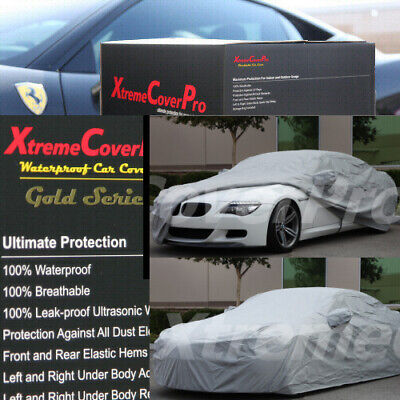 2015 BMW 640I 650I COUPE Waterproof Car Cover w/Mirror Pockets - Gray