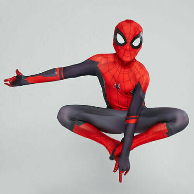 Spider-Man: Far From Home Cosplay Costume Jumpsuits Kids Boys Spandex Bodysuits