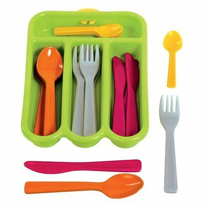 Gowi Besteckkorb Venedig, Küchenspielzeug 17 teilig Kinderküche Spielküche NEU