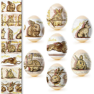 Thermo Heat Shrink Sleeve Happy Easter Egg Wraps Pysanka Easter Bunnies Rabbits