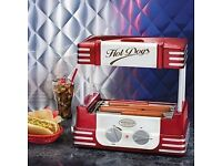Nostalgia Electrics Retro Series 50's Style Hot Dog Sausage Nonstick Roller Red