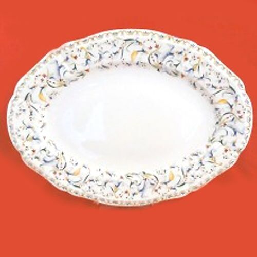 """TOSCANA by Gien Platter Oval 13"""" Long NEW NEVER USED made in French Bone China"""