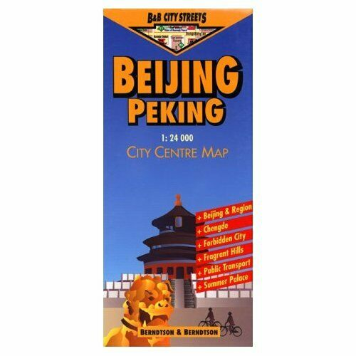 Map of Beijing, (Peking) City Center, China Laminated & Folded by Berndston Maps
