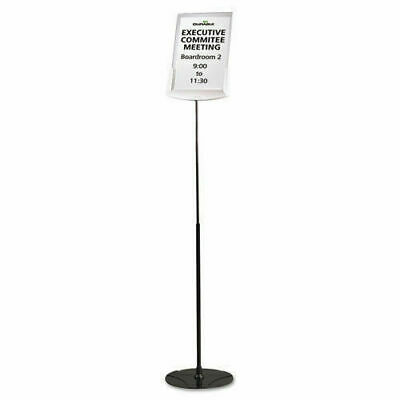 New Sherpa 5589 Durable Infobase Sign Stand Document Holder Gray