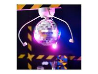 KIDS PARTY DISCO BALL WITH LED LIGHTS LAMP DANSA BRAND NEW AND BOXED