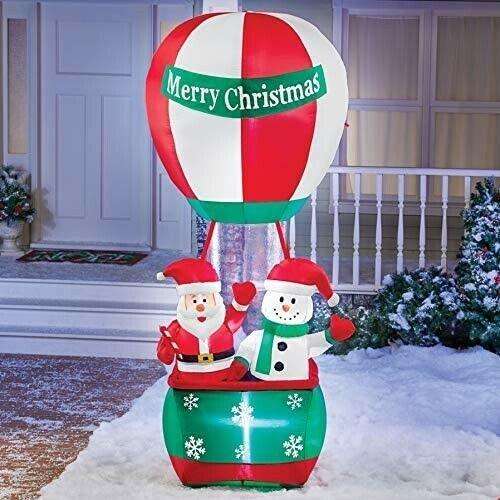 Lights Up Santa and Snowman Christmas Yard Decor 7