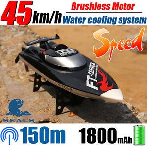 NUOVO-ft012-Generation-2-2-4g-4ch-BRUSHLESS-RC-Barca-Da-Corsa-Racing-Boat-Nero