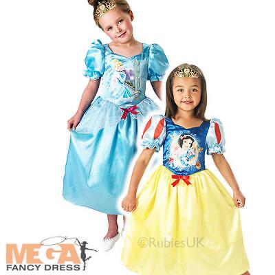 Reversible Cinderella Snow White Girls Fancy Dress Disney Princess Kids Costume  ()