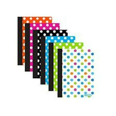 6 Pk. Polka Dot Poly Cover Personal Composition Book College Ruled 80 Ct. 5 X