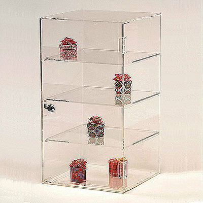 Acrylic Countertop Showcase Square 4 Shelves 10 X 10 X 18 12h