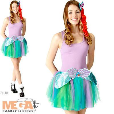 Ariel Tutu Set Ladies Fancy Dress Disney Little Mermaid Teen Costume Accessories - Little Mermaid Costume Teen