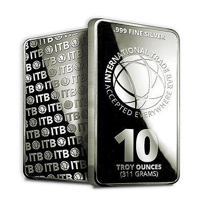 10 oz Silver International Trade Bar (New, Sealed)